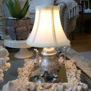 NEW! Vintage INSPIRED MINI Accent TEA POT Lamp